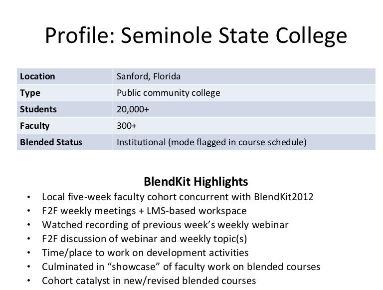 Seminole State profile