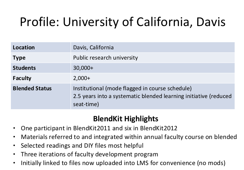 Profile of UC Davis